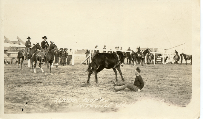 Ritzville Rodeo, Record Series, Photographs, A.M.  Kendrick Collection, 1920, Washington State Archives, Digital Archives.