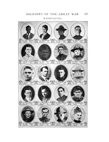Soldiers of the Great War, Washington, Vol. 3, page 375, Soldiers of the Great War Casualty List, Military Records, Washington State Archives, Digital Archives.