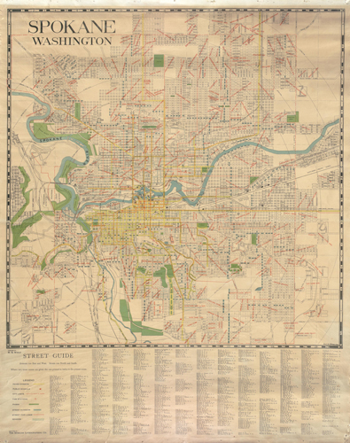 AR-270-B-001096, Spokane, Washington, Emil H. Ortman, General Map Collection, 1851-2005, Washington State Archives, Digital Archives.