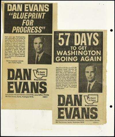 View record daniel j evans scrapbook 05 governors campaign record image thumbnail view scrapbook malvernweather Images