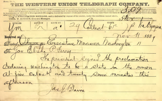 thumbnail of statehood telegram